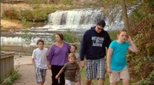 Lisas Family Walking
