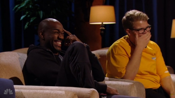 Dolvett and Jackson Laughing