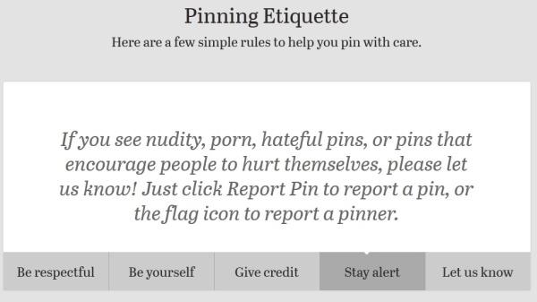 Pinning Etiquette