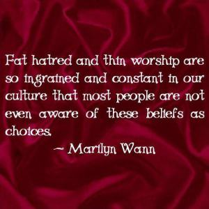 Fat hatred, Marilyn Wann