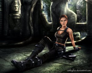 Lara Croft, picture found at http://13theglueats.deviantart.com/art/Tomb-Raider-Lara-Croft-18-193685296