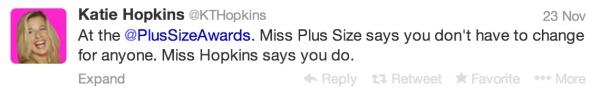 Katie Hopkins Miss BBW have to change