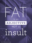 fat is an adjective