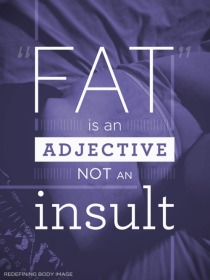 Fat is an adjective!