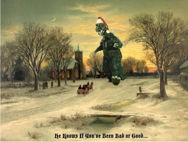 Godzilla Santa