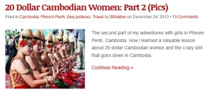 20 Dollar Cambodian women