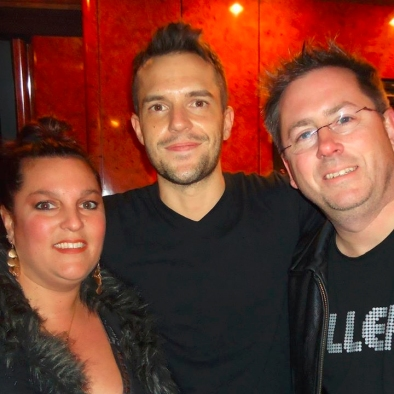 Staci and Anthony Dill with Brandon Flowers of The Killers.