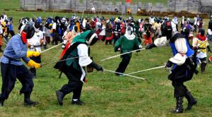 Rapier fighting, medieval style.