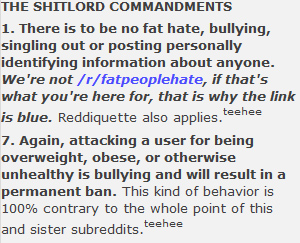 Shitlord Commandments