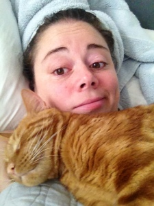 This is me and the other cat, the fat, fuzzy, love potato.